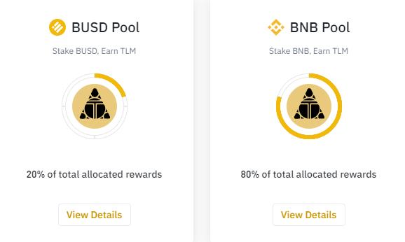 stake nhận tlm token